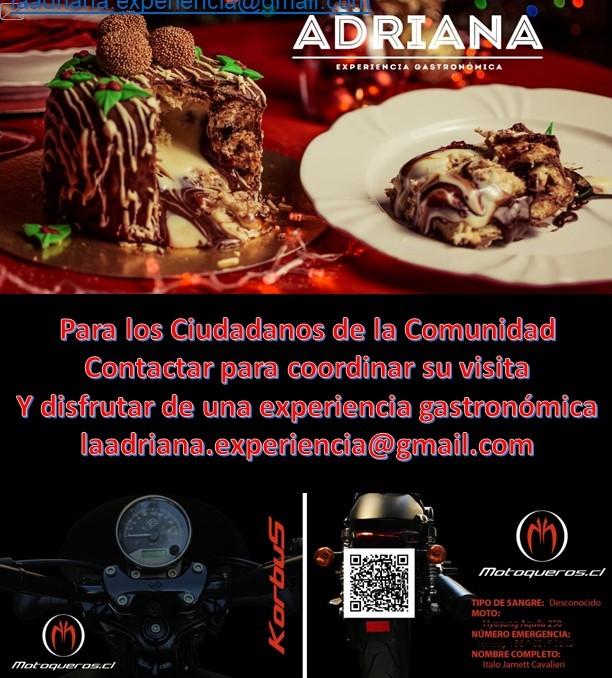 Adriana, Experiencia Gastronómica